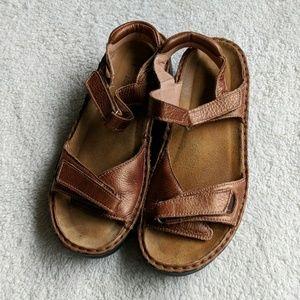 Naot Brown Heeled Sandals